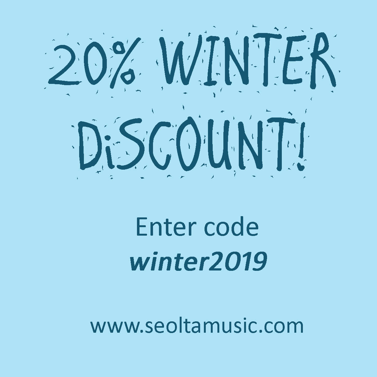 20% winter discount on sheet music for choir and band