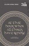 At that hour when all things have repose Irish choral choir sheet music