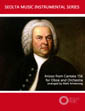 Arioso from Bach Cantata 156 for oboe solo and orchestra sheet music