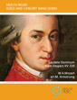 Laudate Dominum Mozart Vespers sheet music for voice vocal and wind concert band